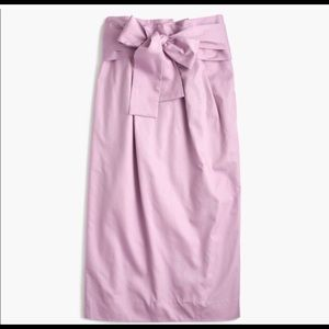 J. Crew Midi Paper-Bag Skirt in Lilac sz 8